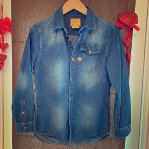 Zara Kids - Boys Denim Shirt - size 11-12